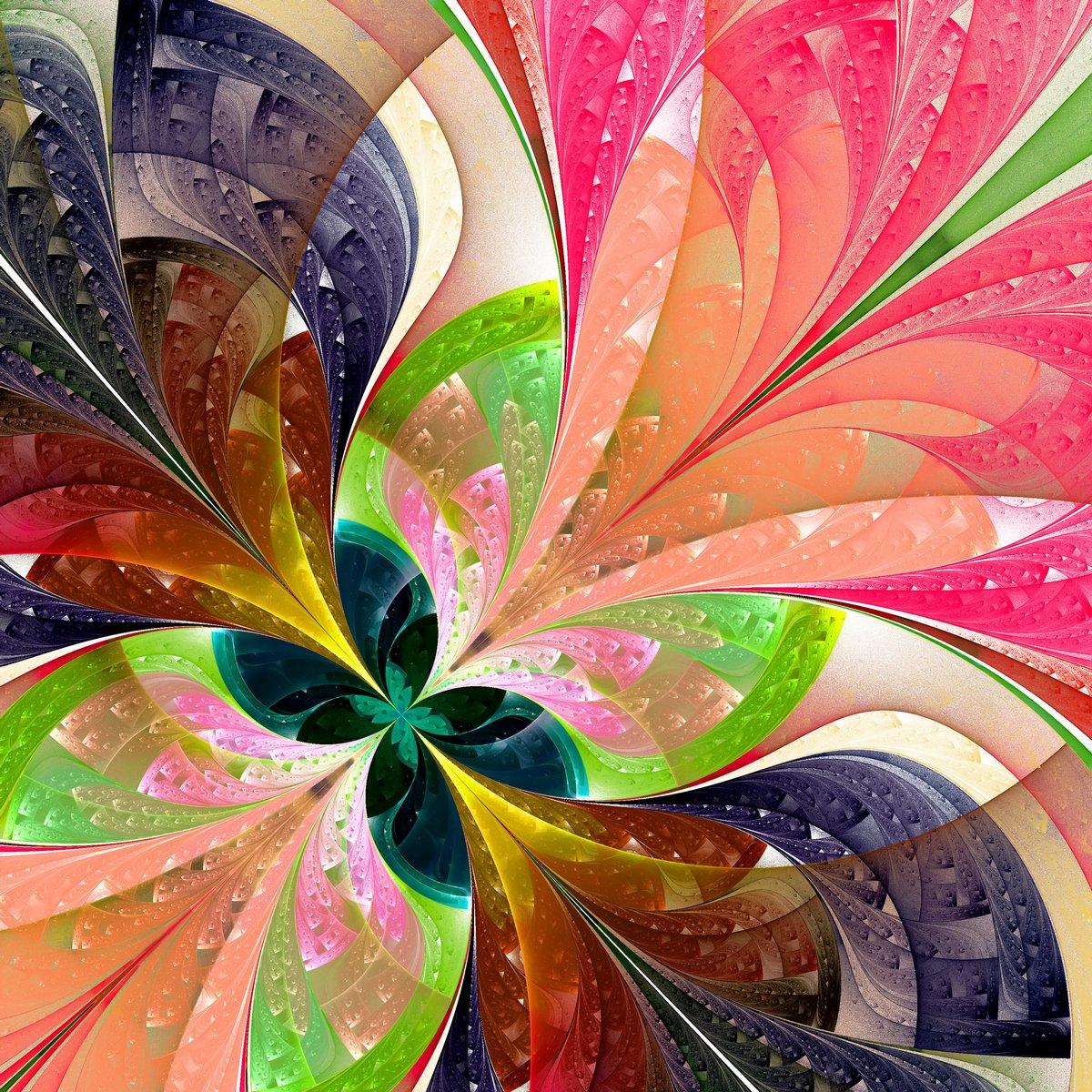Многоцветная красивый фрактал цветок. Компьютерной графики, 20x20 см, на бумагеАбстракция<br>Постер на холсте или бумаге. Любого нужного вам размера. В раме или без. Подвес в комплекте. Трехслойная надежная упаковка. Доставим в любую точку России. Вам осталось только повесить картину на стену!<br>
