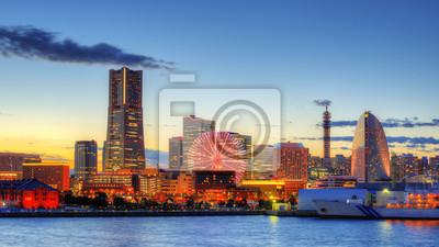 Постер Япония Yokohama Bay SkylineЯпония<br>Постер на холсте или бумаге. Любого нужного вам размера. В раме или без. Подвес в комплекте. Трехслойная надежная упаковка. Доставим в любую точку России. Вам осталось только повесить картину на стену!<br>