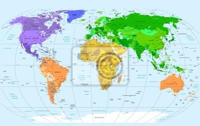 Постер Современные карты мира Карта МираСовременные карты мира<br>Постер на холсте или бумаге. Любого нужного вам размера. В раме или без. Подвес в комплекте. Трехслойная надежная упаковка. Доставим в любую точку России. Вам осталось только повесить картину на стену!<br>