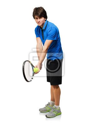 Постер Большой теннис Молодой Человек Играл В ТеннисБольшой теннис<br>Постер на холсте или бумаге. Любого нужного вам размера. В раме или без. Подвес в комплекте. Трехслойная надежная упаковка. Доставим в любую точку России. Вам осталось только повесить картину на стену!<br>