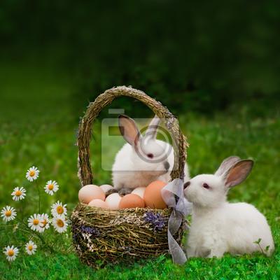 Пасха. Кролики с корзиной яиц, 20x20 см, на бумаге05.05 Пасха<br>Постер на холсте или бумаге. Любого нужного вам размера. В раме или без. Подвес в комплекте. Трехслойная надежная упаковка. Доставим в любую точку России. Вам осталось только повесить картину на стену!<br>