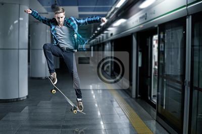 Постер Скейтбординг