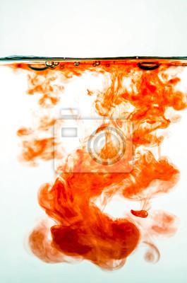 Постер Красные чернила в водеТанец краски под водой<br>Постер на холсте или бумаге. Любого нужного вам размера. В раме или без. Подвес в комплекте. Трехслойная надежная упаковка. Доставим в любую точку России. Вам осталось только повесить картину на стену!<br>