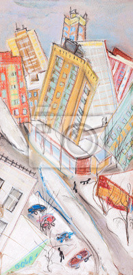 Постер Современный городской пейзаж Город зимойСовременный городской пейзаж<br>Постер на холсте или бумаге. Любого нужного вам размера. В раме или без. Подвес в комплекте. Трехслойная надежная упаковка. Доставим в любую точку России. Вам осталось только повесить картину на стену!<br>