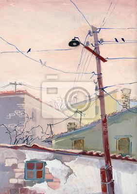 Пейзаж современный городской Срите светПейзаж современный городской<br>Репродукция на холсте или бумаге. Любого нужного вам размера. В раме или без. Подвес в комплекте. Трехслойная надежная упаковка. Доставим в любую точку России. Вам осталось только повесить картину на стену!<br>