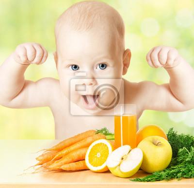 Постер Сильный и здоровый ребенок, свежие фрукты едой и стакан сокаДети<br>Постер на холсте или бумаге. Любого нужного вам размера. В раме или без. Подвес в комплекте. Трехслойная надежная упаковка. Доставим в любую точку России. Вам осталось только повесить картину на стену!<br>
