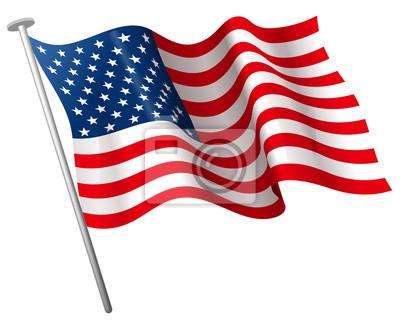Постер Флаг СШАФлаг США<br>Постер на холсте или бумаге. Любого нужного вам размера. В раме или без. Подвес в комплекте. Трехслойная надежная упаковка. Доставим в любую точку России. Вам осталось только повесить картину на стену!<br>