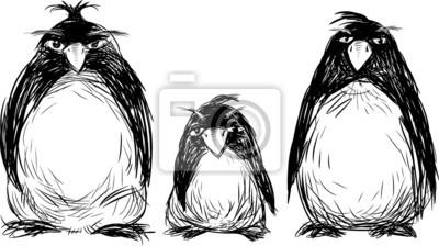 Семья пингвинов, 36x20 см, на бумагеПингвины<br>Постер на холсте или бумаге. Любого нужного вам размера. В раме или без. Подвес в комплекте. Трехслойная надежная упаковка. Доставим в любую точку России. Вам осталось только повесить картину на стену!<br>