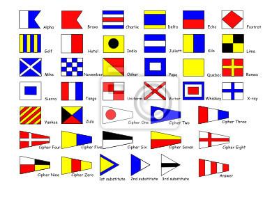 Постер Международный сигнал-флагиМеждународные морские сигнальные флаги<br>Постер на холсте или бумаге. Любого нужного вам размера. В раме или без. Подвес в комплекте. Трехслойная надежная упаковка. Доставим в любую точку России. Вам осталось только повесить картину на стену!<br>