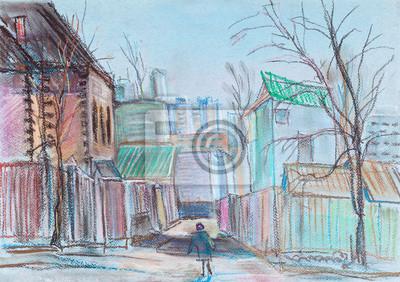 Пейзаж современный городской Городской пейзажПейзаж современный городской<br>Репродукция на холсте или бумаге. Любого нужного вам размера. В раме или без. Подвес в комплекте. Трехслойная надежная упаковка. Доставим в любую точку России. Вам осталось только повесить картину на стену!<br>