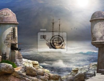 Постер The Pirate bayПираты<br>Постер на холсте или бумаге. Любого нужного вам размера. В раме или без. Подвес в комплекте. Трехслойная надежная упаковка. Доставим в любую точку России. Вам осталось только повесить картину на стену!<br>