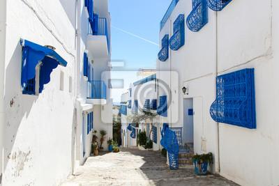 Постер Сиди-Бу-Саид Сиди-бу-Саид в Тунисе, улиц и зданий недалеко от центра городаСиди-Бу-Саид<br>Постер на холсте или бумаге. Любого нужного вам размера. В раме или без. Подвес в комплекте. Трехслойная надежная упаковка. Доставим в любую точку России. Вам осталось только повесить картину на стену!<br>