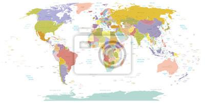 Постер Современные карты мира Высокая детализация карта мира.Слои используются.Современные карты мира<br>Постер на холсте или бумаге. Любого нужного вам размера. В раме или без. Подвес в комплекте. Трехслойная надежная упаковка. Доставим в любую точку России. Вам осталось только повесить картину на стену!<br>