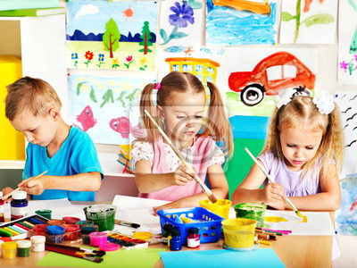 Детского рисунка на мольберте., 27x20 см, на бумагеДетский сад<br>Постер на холсте или бумаге. Любого нужного вам размера. В раме или без. Подвес в комплекте. Трехслойная надежная упаковка. Доставим в любую точку России. Вам осталось только повесить картину на стену!<br>