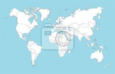 Weltkarte, 31x20 см, на бумагеСовременные карты мира<br>Постер на холсте или бумаге. Любого нужного вам размера. В раме или без. Подвес в комплекте. Трехслойная надежная упаковка. Доставим в любую точку России. Вам осталось только повесить картину на стену!<br>