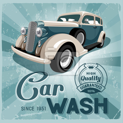 Постер Мойка автомобилей
