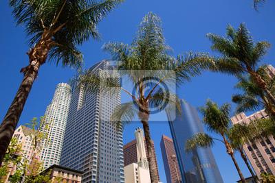 Постер Архитектура ЛА Лос-Анджелеса Pershing Square пальмовых деревьев, 30x20 см, на бумагеНебоскребы<br>Постер на холсте или бумаге. Любого нужного вам размера. В раме или без. Подвес в комплекте. Трехслойная надежная упаковка. Доставим в любую точку России. Вам осталось только повесить картину на стену!<br>