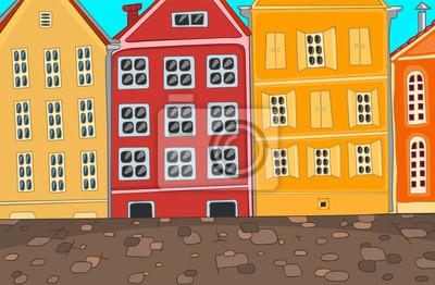 Пейзаж современный городской Город Шаржа.Пейзаж современный городской<br>Репродукция на холсте или бумаге. Любого нужного вам размера. В раме или без. Подвес в комплекте. Трехслойная надежная упаковка. Доставим в любую точку России. Вам осталось только повесить картину на стену!<br>