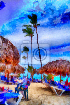 Средиземноморье, современный пейзаж Цифровая структура живописи. Доминиканский пляжСредиземноморье, современный пейзаж<br>Репродукция на холсте или бумаге. Любого нужного вам размера. В раме или без. Подвес в комплекте. Трехслойная надежная упаковка. Доставим в любую точку России. Вам осталось только повесить картину на стену!<br>