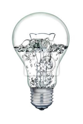 Постер Воды кипящей внутри свет лампы, изолированные на белом фоне.Насосное оборудование<br>Постер на холсте или бумаге. Любого нужного вам размера. В раме или без. Подвес в комплекте. Трехслойная надежная упаковка. Доставим в любую точку России. Вам осталось только повесить картину на стену!<br>