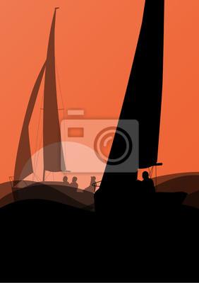Спортивная парусная яхта с активных мужчин в морских и океанских фона, 20x28 см, на бумагеРегата<br>Постер на холсте или бумаге. Любого нужного вам размера. В раме или без. Подвес в комплекте. Трехслойная надежная упаковка. Доставим в любую точку России. Вам осталось только повесить картину на стену!<br>