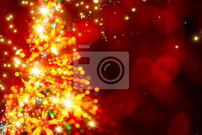 Абстрактный золотой свет Рождественская елка на красном фоне, 30x20 см, на бумаге12.31 Новый Год<br>Постер на холсте или бумаге. Любого нужного вам размера. В раме или без. Подвес в комплекте. Трехслойная надежная упаковка. Доставим в любую точку России. Вам осталось только повесить картину на стену!<br>