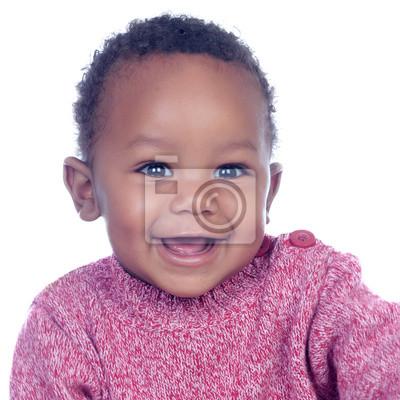 Постер Очаровательны Африканский ребенок улыбаетсяДети<br>Постер на холсте или бумаге. Любого нужного вам размера. В раме или без. Подвес в комплекте. Трехслойная надежная упаковка. Доставим в любую точку России. Вам осталось только повесить картину на стену!<br>