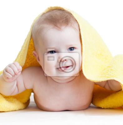 Постер Happy baby boy после купанияДети<br>Постер на холсте или бумаге. Любого нужного вам размера. В раме или без. Подвес в комплекте. Трехслойная надежная упаковка. Доставим в любую точку России. Вам осталось только повесить картину на стену!<br>