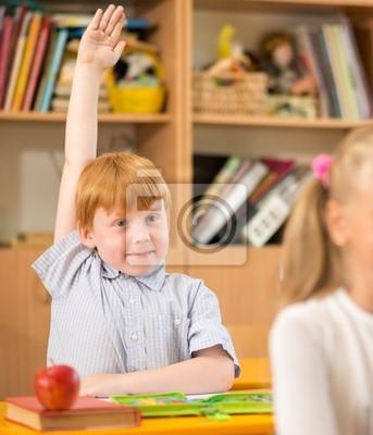 Постер Образование Детей за школьные парты во время урокаОбразование<br>Постер на холсте или бумаге. Любого нужного вам размера. В раме или без. Подвес в комплекте. Трехслойная надежная упаковка. Доставим в любую точку России. Вам осталось только повесить картину на стену!<br>