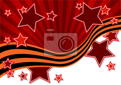 Поздравительная открытка с красными звездами, 28x20 см, на бумаге05.09 День Победы, 9 мая<br>Постер на холсте или бумаге. Любого нужного вам размера. В раме или без. Подвес в комплекте. Трехслойная надежная упаковка. Доставим в любую точку России. Вам осталось только повесить картину на стену!<br>