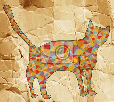 Постер Животные Постер 61303189, 22x20 см, на бумагеКошки<br>Постер на холсте или бумаге. Любого нужного вам размера. В раме или без. Подвес в комплекте. Трехслойная надежная упаковка. Доставим в любую точку России. Вам осталось только повесить картину на стену!<br>