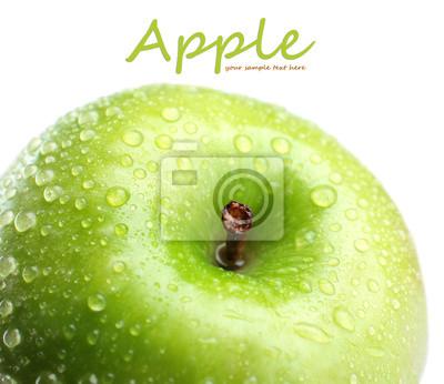 Свежее зеленое яблоко, на белом, 23x20 см, на бумагеФрукты<br>Постер на холсте или бумаге. Любого нужного вам размера. В раме или без. Подвес в комплекте. Трехслойная надежная упаковка. Доставим в любую точку России. Вам осталось только повесить картину на стену!<br>
