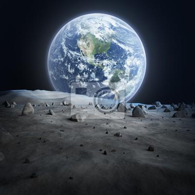 Земли увидеть с Луны., 20x20 см, на бумаге04.12 День космонавтики<br>Постер на холсте или бумаге. Любого нужного вам размера. В раме или без. Подвес в комплекте. Трехслойная надежная упаковка. Доставим в любую точку России. Вам осталось только повесить картину на стену!<br>