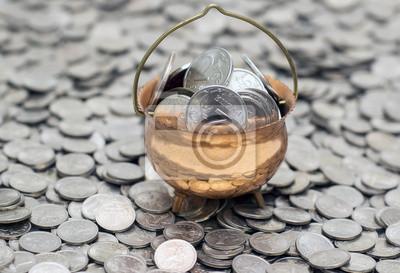 Постер Праздники Горшок с монетами на монеты, 29x20 см, на бумаге11.21 День бухгалтера<br>Постер на холсте или бумаге. Любого нужного вам размера. В раме или без. Подвес в комплекте. Трехслойная надежная упаковка. Доставим в любую точку России. Вам осталось только повесить картину на стену!<br>