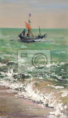 Пейзаж современный морской Рыбацкая лодка -акварелиПейзаж современный морской<br>Репродукция на холсте или бумаге. Любого нужного вам размера. В раме или без. Подвес в комплекте. Трехслойная надежная упаковка. Доставим в любую точку России. Вам осталось только повесить картину на стену!<br>
