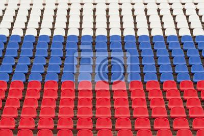 Пустая трибуна стадиона, 30x20 см, на бумаге08.22 День государственного флага Российской Федерации<br>Постер на холсте или бумаге. Любого нужного вам размера. В раме или без. Подвес в комплекте. Трехслойная надежная упаковка. Доставим в любую точку России. Вам осталось только повесить картину на стену!<br>