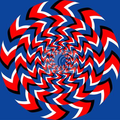Постер-картина Оптическое искусство Эффект вращения с оптическим эффектом иллюзииОптическое искусство<br>Постер на холсте или бумаге. Любого нужного вам размера. В раме или без. Подвес в комплекте. Трехслойная надежная упаковка. Доставим в любую точку России. Вам осталось только повесить картину на стену!<br>