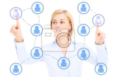 Женщина в бизнесе и в социальной сети, 30x20 см, на бумаге11.14 День социолога<br>Постер на холсте или бумаге. Любого нужного вам размера. В раме или без. Подвес в комплекте. Трехслойная надежная упаковка. Доставим в любую точку России. Вам осталось только повесить картину на стену!<br>