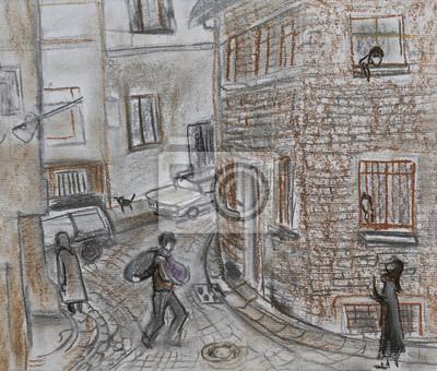 Пейзаж современный городской Узкие улочки СтамбулаПейзаж современный городской<br>Репродукция на холсте или бумаге. Любого нужного вам размера. В раме или без. Подвес в комплекте. Трехслойная надежная упаковка. Доставим в любую точку России. Вам осталось только повесить картину на стену!<br>
