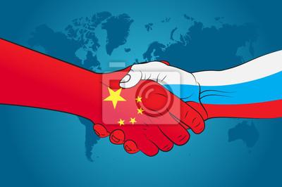Рукопожатие Китая и России, 30x20 см, на бумагеБизнес<br>Постер на холсте или бумаге. Любого нужного вам размера. В раме или без. Подвес в комплекте. Трехслойная надежная упаковка. Доставим в любую точку России. Вам осталось только повесить картину на стену!<br>