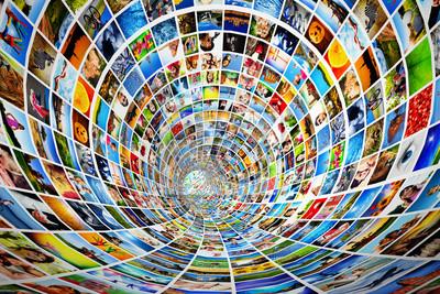 Туннель СМИ, изображений, фотографий. Tv, multimedia broadcast., 30x20 см, на бумаге10.23 День работников рекламы<br>Постер на холсте или бумаге. Любого нужного вам размера. В раме или без. Подвес в комплекте. Трехслойная надежная упаковка. Доставим в любую точку России. Вам осталось только повесить картину на стену!<br>