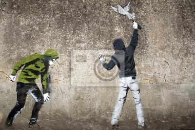 Постер-картина Стрит-арт Граффити либертеСтрит-арт<br>Постер на холсте или бумаге. Любого нужного вам размера. В раме или без. Подвес в комплекте. Трехслойная надежная упаковка. Доставим в любую точку России. Вам осталось только повесить картину на стену!<br>