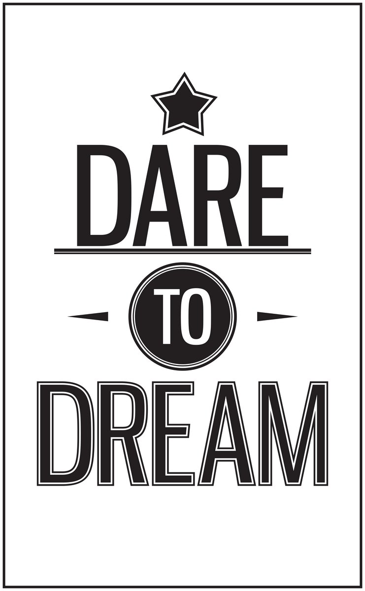 Постер-картина Мотивационный плакат Винтажная типографика в котировке. Смеем мечтатьМотивационный плакат<br>Постер на холсте или бумаге. Любого нужного вам размера. В раме или без. Подвес в комплекте. Трехслойная надежная упаковка. Доставим в любую точку России. Вам осталось только повесить картину на стену!<br>