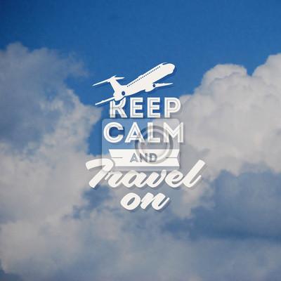 Постер Дизайн Тип путешествия с облака фонаKeep Calm<br>Постер на холсте или бумаге. Любого нужного вам размера. В раме или без. Подвес в комплекте. Трехслойная надежная упаковка. Доставим в любую точку России. Вам осталось только повесить картину на стену!<br>