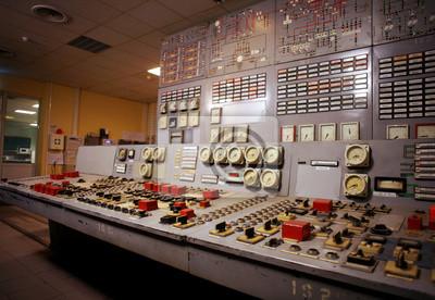 Control room старой электростанции, 29x20 см, на бумаге09.04 День специалиста по ядерному обеспечению<br>Постер на холсте или бумаге. Любого нужного вам размера. В раме или без. Подвес в комплекте. Трехслойная надежная упаковка. Доставим в любую точку России. Вам осталось только повесить картину на стену!<br>
