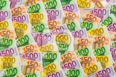 Постер Праздники Viele verschiedene евро-Geldscheine, 30x20 см, на бумаге09.08 День финансиста<br>Постер на холсте или бумаге. Любого нужного вам размера. В раме или без. Подвес в комплекте. Трехслойная надежная упаковка. Доставим в любую точку России. Вам осталось только повесить картину на стену!<br>