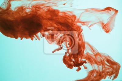 Постер Кровь в водеТанец краски под водой<br>Постер на холсте или бумаге. Любого нужного вам размера. В раме или без. Подвес в комплекте. Трехслойная надежная упаковка. Доставим в любую точку России. Вам осталось только повесить картину на стену!<br>
