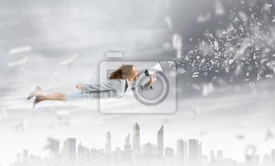 Постер 10.23 День работников рекламы Летающие супервумен10.23 День работников рекламы<br>Постер на холсте или бумаге. Любого нужного вам размера. В раме или без. Подвес в комплекте. Трехслойная надежная упаковка. Доставим в любую точку России. Вам осталось только повесить картину на стену!<br>