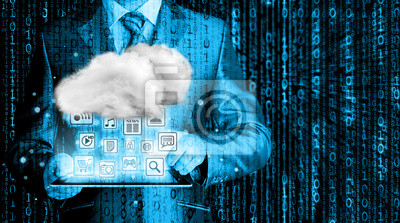 """Купить Постер 09.13 День Программиста """"облачные Вычисления, Технологии Connectivity Concept"""""""