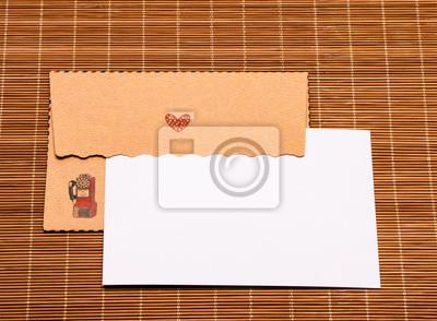 Коричневый подарок конверт и пустой карты, 27x20 см, на бумаге07.14 День российской почты<br>Постер на холсте или бумаге. Любого нужного вам размера. В раме или без. Подвес в комплекте. Трехслойная надежная упаковка. Доставим в любую точку России. Вам осталось только повесить картину на стену!<br>